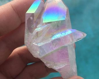 On Sale - Pretty Angel Aura / Opal Aura Quartz Crystal