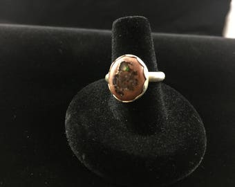 Mexican Fire Opal and Sterling Ring