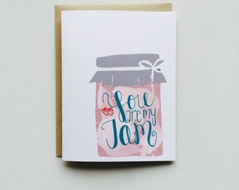 You are My Jam Card- Love Card- You are My Jam- Fun Card- Love Card- You are Awesome Card- Hand Lettered Card- Hand Illustrated Card