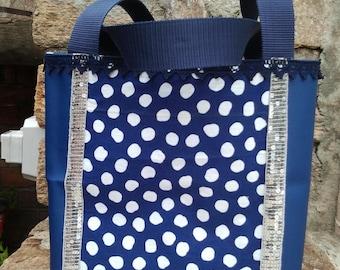 sac a main retro bleu
