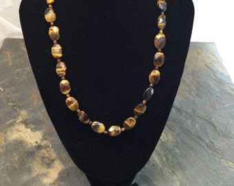 Tiger Eye Necklace and Earring Set