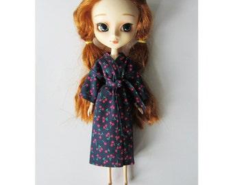 Pullip, Project Mc2, Disney Descendants cherry-print (navy) kimono-style dressing gown/bath robe