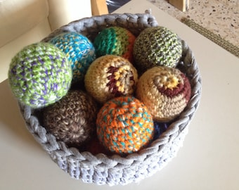 Colorful Crochet Juggling Balls