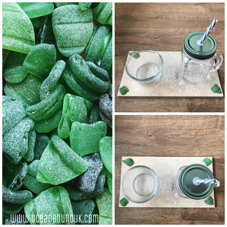 Tableware. u201cHappy Houru201d Platter Genuine Sea Glass Bottle Rims on Natural Stone. Handmade in the U.K. Housewarming. Unique Home Decor.  sc 1 st  OceanBoundUK & Tableware. u201cHappy Houru201d Platter Genuine Sea Glass Bottle Rims on ...