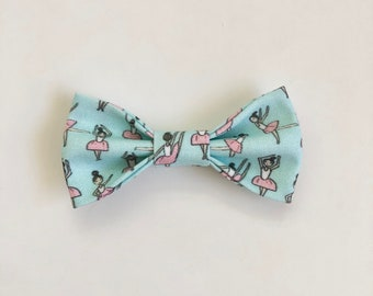 NEW Soft Blue Ballerina Hair Bow // Kids Bow / Girl's Hair Bow / Ballet Bow / Ballerina Party / Dancing Ballerina / Tiny Dancer