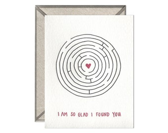 So Glad I Found You letterpress card