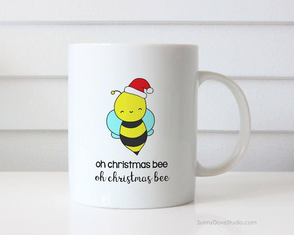 Lustige Kaffee Becher Ach Biene Wortspiel Weihnachtsgeschenk