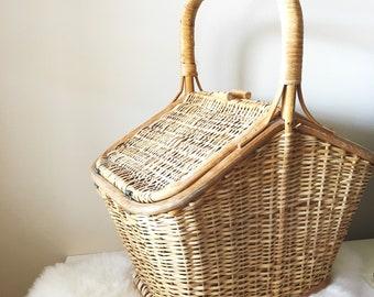 Wicker Vintage Picnic Hamper Basket
