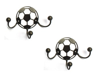 Metal Soccer Ball Wall Art Set Of 2 SAVE 20%: Soccer Gifts!!! Soccer Coach Gift + Soccer Player Medal Display Award Holders By Practical Art