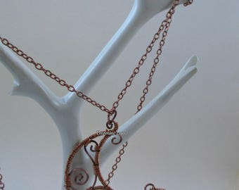 Celtic Moon ~ Wirework Crescent Necklace