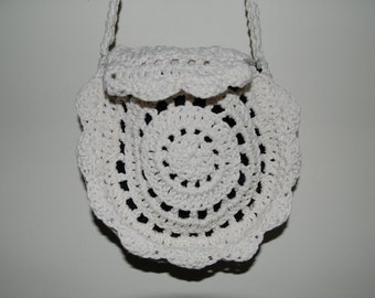 White Crochet Purse