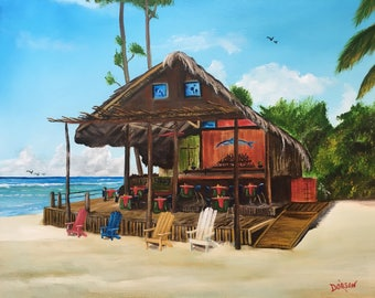 Tiki Bar Restaurant Located in Negril, Jamaica