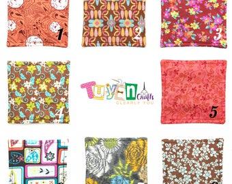 Flowers Fabric Coasters / Flowers Cloth Coasters / Flowers Linen Coasters - 1 each