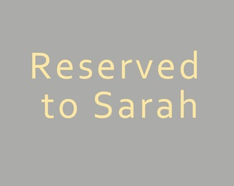 Reserved to Sarah: Children's tableware