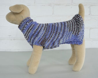 X-Small Dog Sweater - Purple Variegated Sparkle