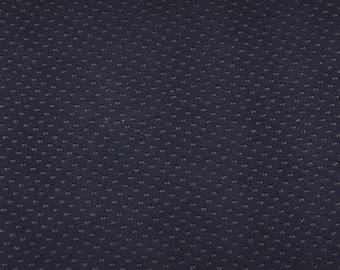 Navy velvet lambskin voucher printed with black dots