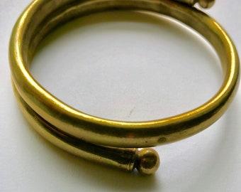 vintage bracelet upper arm brass
