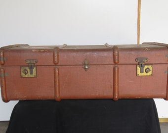 Antique French Steamer Trunk