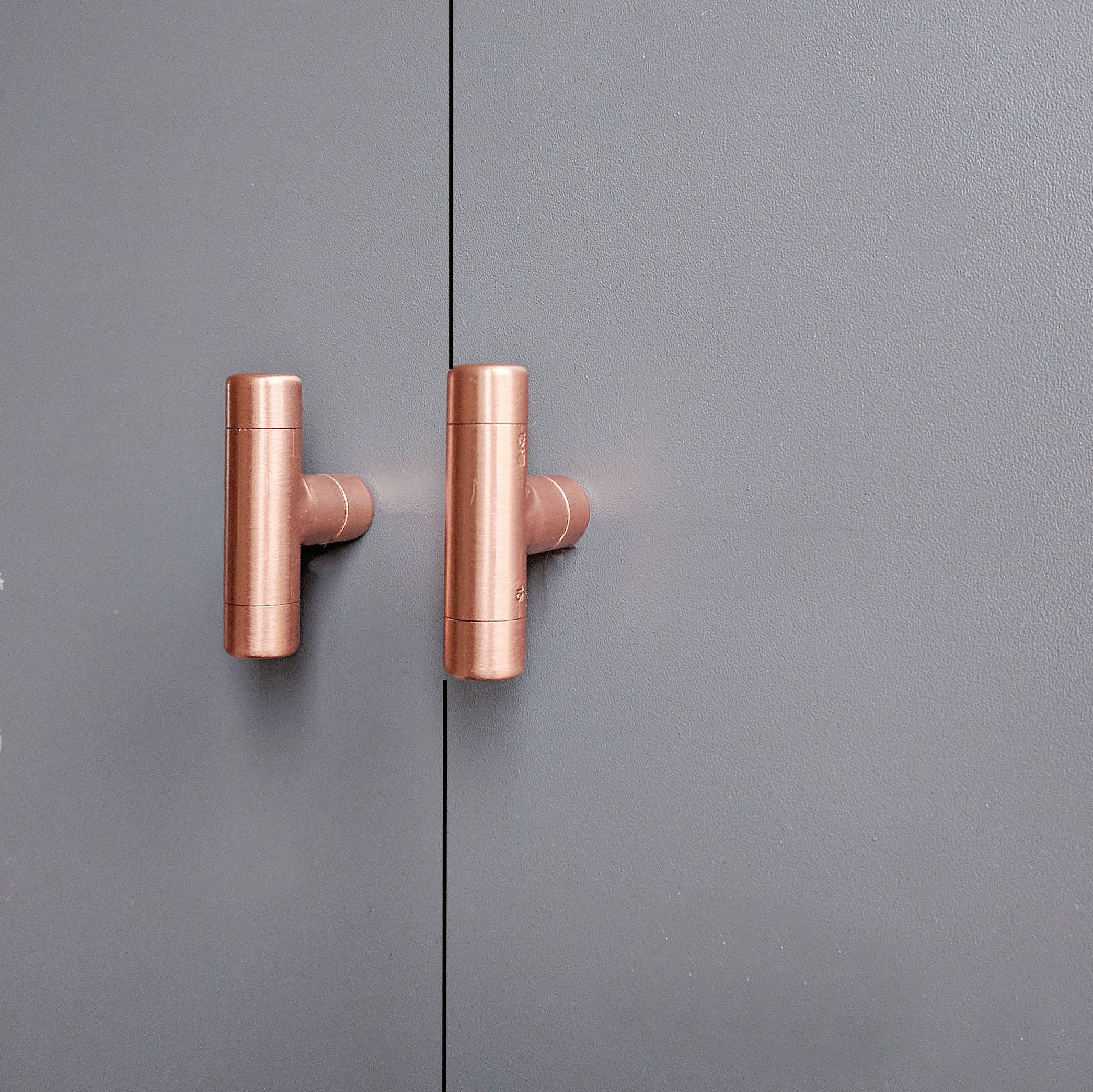 QuirkHub® t Kupfer Türgriffe Knöpfe Kupfer Moderne Kupfer