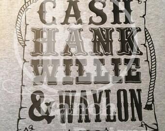 Cash, Hank, Willie & Waylon Shirt