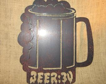 Beer:30-metal art-bar art