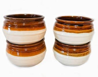 Vintage Tri-Toned Bowls, Set of 4
