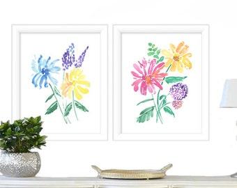 Floral Painting Watercolor Print - Watercolor Flowers  - Botanical Print - Watercolor Wall Art - Watercolor Painting Floral - Watercolor Art