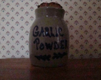 Beaumont Brothers Pottery (BBP) Stoneware GARLIC POWDER Spice Jar
