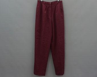vintage maroon peg trousers