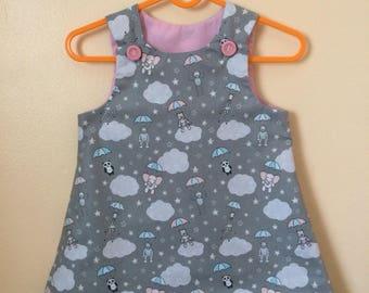 Toddlers  handmade character pinafore dress