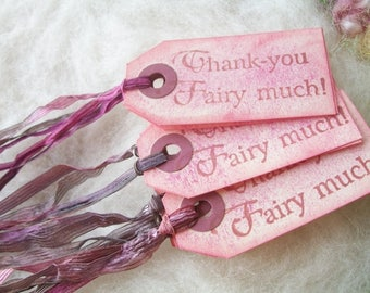 Thank You Fairytale Gift Tags 10 Bag Tags or Box Label Thank You Fairy Much Birthday Thank You Party Tag