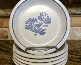 Vintage Pfaltzgraff Yorktowne Salad / Dessert Plates - Replacement Dishes - Discontinued Pattern - Stoneware - : made in the usa dinnerware - pezcame.com