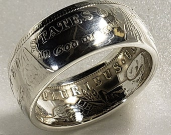 Morgan Silver dollar Handmade Ring *Curved Walls*