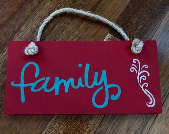 "Wall hanging ""Family"" 8""x4"""