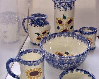 6 piece Sunflower Dish set