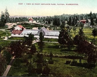 Tacoma, Washington, Point Defiance, Park - Vintage Postcard - Postcard - Unused (Y)