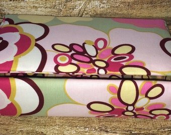 Fabric Covered Box - Trinket Box - Memory Box - Cigar Box - Pink Floral Design