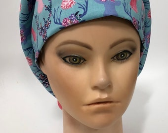 Blue & Pink Deer Trophy Surgical Scrub Cap