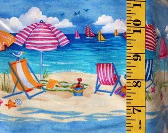 Timeless Treasures Beach Umbrella 6105 Cotton Fabric By the Yard