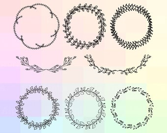 Wreath SVG, Wreath Clipart, Wreath Cricut, Wreath Dxf, Wreath Silhouette, Wreath Cut File, Wreath Png, Wreath Eps, Wreath Cutting File