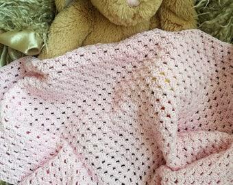 Handmade Baby Blanket, Newborn Blanket, First Blanket, Travel Blanket for Baby, Baby Shower Gift, Newborn Baby Girl Gift, 61 cms