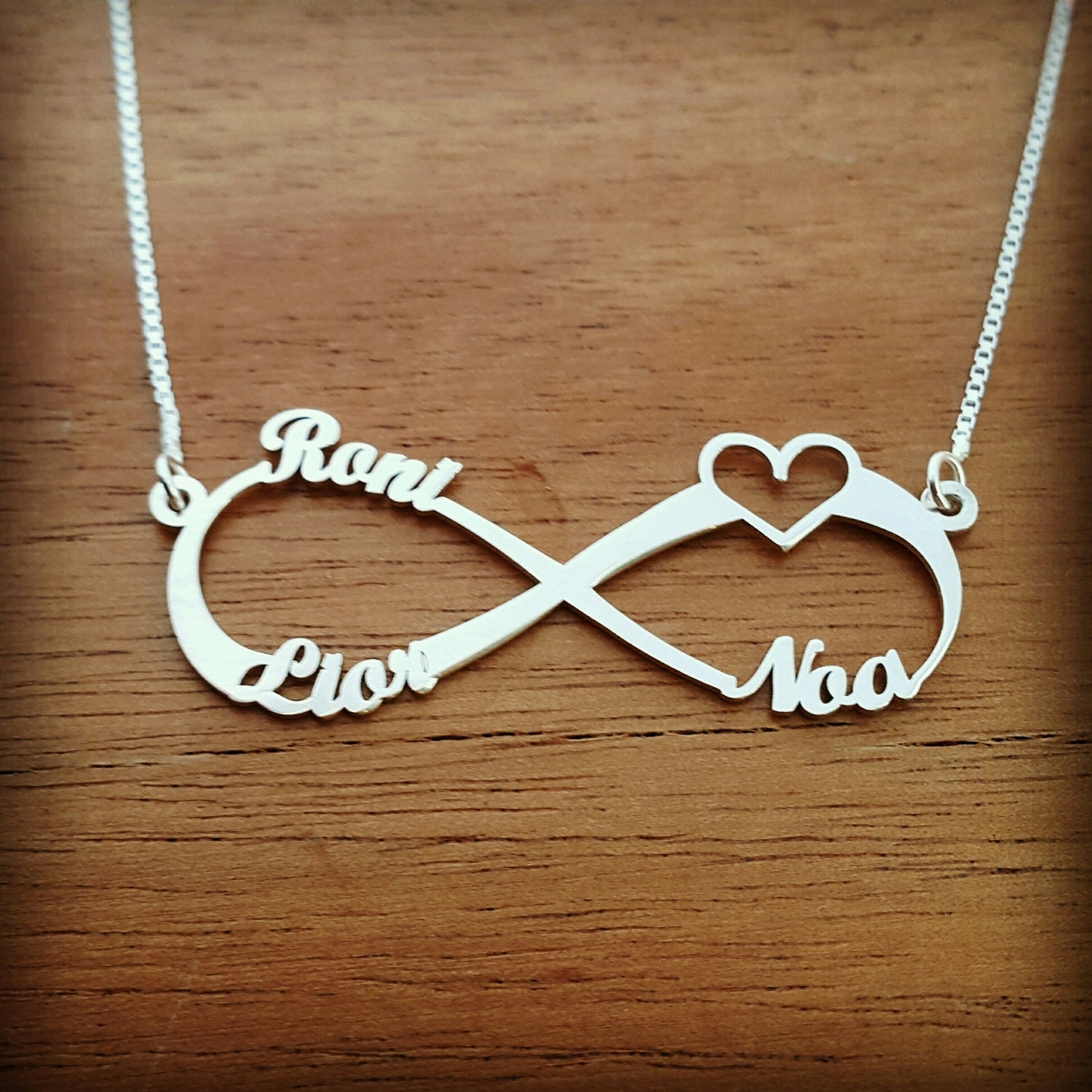 Infinity necklace personalized infinity necklace silver zoom biocorpaavc