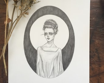 The Bride - Original Drawing- Sale