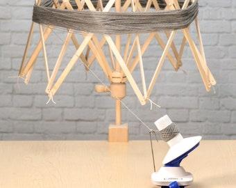Yarn spool  Wooden Swift Combo