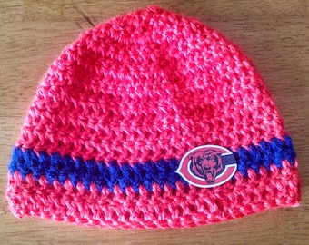 Crocheted Chicago Bear's Hat for Babies