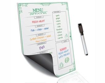 Family menu planning~Weekly meal planning~Daily meal planner~Weekly meal planner~Magnetic menu~Daily menu planner