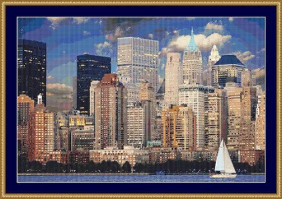 New York Skyline Cross Stitch Pattern /Digital PDF Files /Instant downloadable