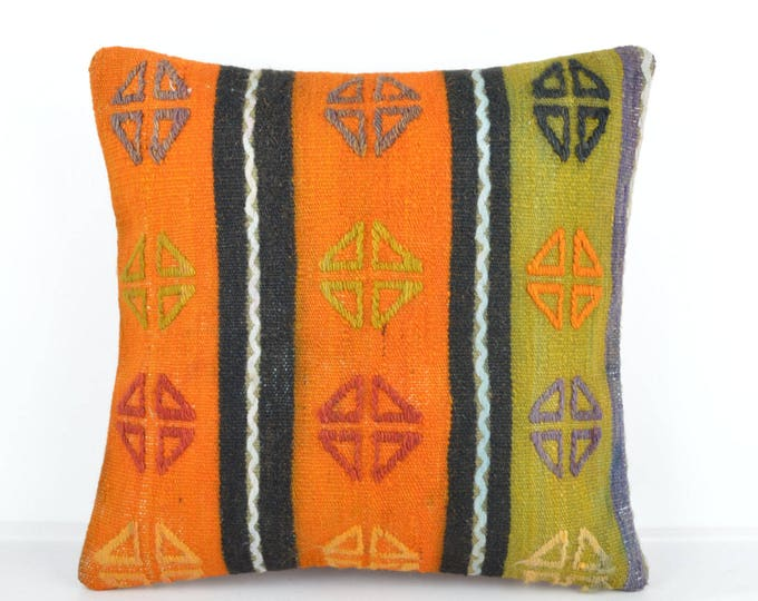 Kilim pillow, Kilim Pillow Cover, Turkish Pillow, Kilim Cushions, Moroccan Pillow,  Bohemian Pillow, Turkish Kilim, KP65 (tp504)