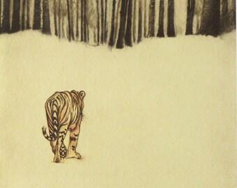 Children's Wall Art, Tiger print, Illustration
