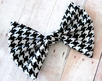 Black and White Houndstooth Bow // School, Trendy, Cute, 90s, Grunge, Punk